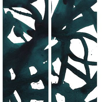 Malta Abstract Diptych Art