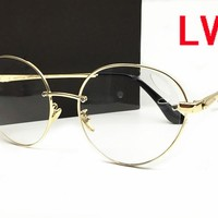 LV Louis VuittonI New HD Night Vision Driving Anti Glare Glasses Eyewear sun glass gun Metal Frame mens womens