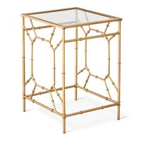Threshold™ Bamboo Motif Accent Table - Gold