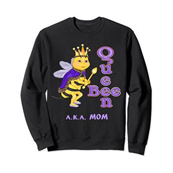 Funnny Queen Bee A.K.A. Mom long sleeve t-shirt 2XL Black