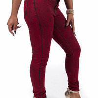Acid Red High Waist Perfect Fit Denim Jeans