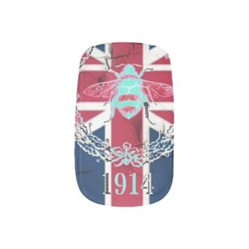 vintage bee london fashion union jack Minx Nails nail art