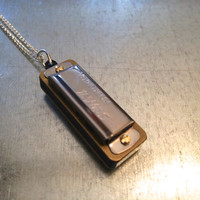 Harmonica Necklace, Mini Harmonica Necklace, Music Necklace