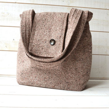 Amy cashmere wool Rose French Shoulder bag / Ready to by ikabags