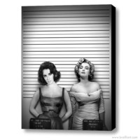 BRAILLIANT | Shop Contemporary Art — Elizabeth Taylor and Marilyn Monroe, Rivalry. Canvas Art. 30 x 40 inches ©2014