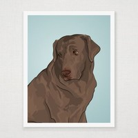 Drake - Chocolate Lab- Art Print