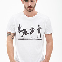 Jumping Beatles Graphic Tee White/Black