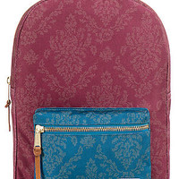 The Settlement Backpack in Burgundy Damask
