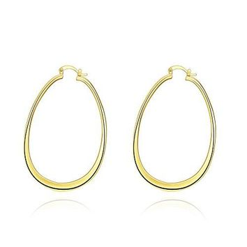 Teardrop Hoop Earrings 68MM amp 71MM Stainless Steel large big Flat New Moon Teardrop Hoop 14K Gold amp Silver Plated Huggy Hoops for Womens Girls sensitive ears hellip