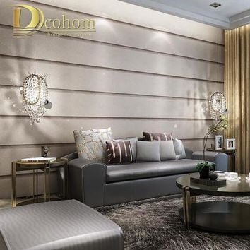 Striped Marble Textures Wallpaper For Wall 3 D Embossed Designs Modern Living room Bedroom Decoration Grey Wall paepr Rolls