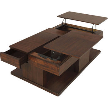 Progressive Furniture Le Mans Coffee Table with Double Lift-Top & Reviews | Wayfair