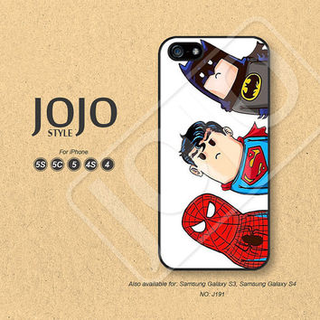 Superman iPhone 5 Case iPhone 5c Case iPhone 4 Case iPhone 5s Case iPhone 4s Case Crooked neck spider man batman Phone Cases - J191