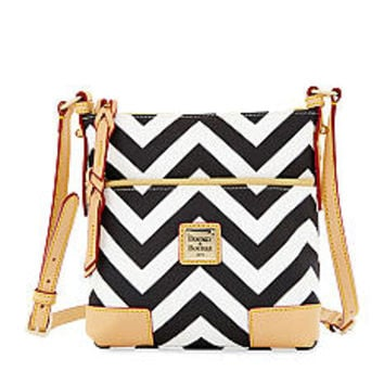 Dooney & Bourke Chevron Print Letter Carrier - Belk.com