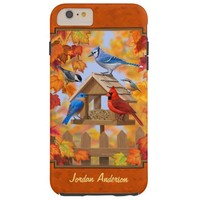 Autumn Bird Feeder Gathering Tough iPhone 6 Plus Case