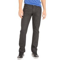 Bowery Slim Straight Black Wash Jean