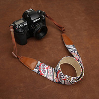 Floral Print  Fabric Camera Strap