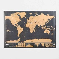 32x23 Deluxe World Scratch Map