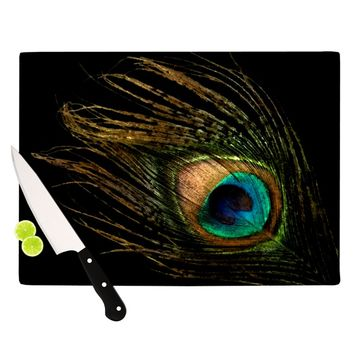 "Alison Coxon ""Peacock Black"" Cutting Board"