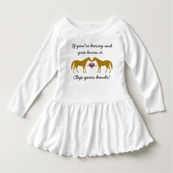 Kids Horse Dress - Personalized Add Kids Name