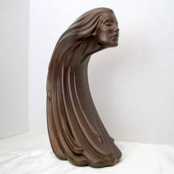 Vintage Art Deco Style Ceramic Woman Statue
