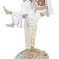"Lillian Rose 6.75"" Hispanic Just Married Beach Wedding Figurine"