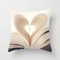 For the Love of Books Throw Pillow by Dena Brender Photography