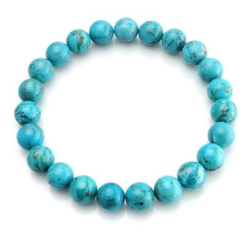 Healing Beads Stretch Bracelet Turquoise Precious Gemstones