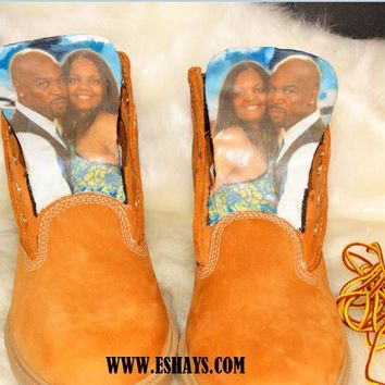 Customize Boots - Your Face On A Pair of Shoes Boots- Custom Timberland Boots