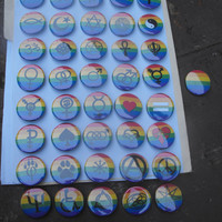 "CUSTOM Gender Identity and Presentation Pride Buttons - 1.5"" - Transgender - TwoSpirit - Bigender - Neutrois - Genderfluid - Genderqueer"