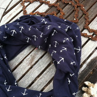 Little Anchors Infinity Scarf (navy, or brown)