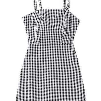 'Elena' Cami Gingham Mini Dress (2 Colors)