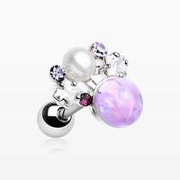 Opalescent Sparkle Pearl Ray Cartilage Tragus Earring