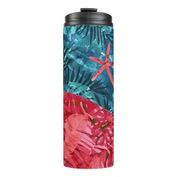 Summer Beach Tropical Pattern Thermal Tumbler