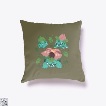 Brute Roots, Pokemon Throw Pillow Cover
