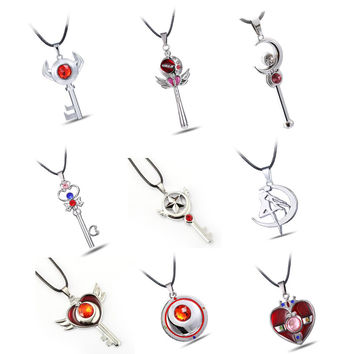 Assorted Sailor Moon Cosplay Jewelry Necklaces