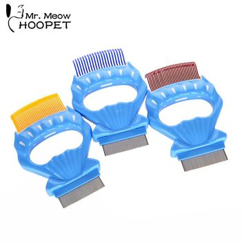 Hoopet Pet Grooming Shell Comb Cat Dog Accessories Remove Hair Soft Plastic Handle Brush Hair Comb 3 Colors