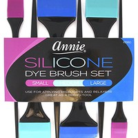 Annie Silicone Dye Brush Set of 6 Pieces for Hair Colors Relaxers and Highlights