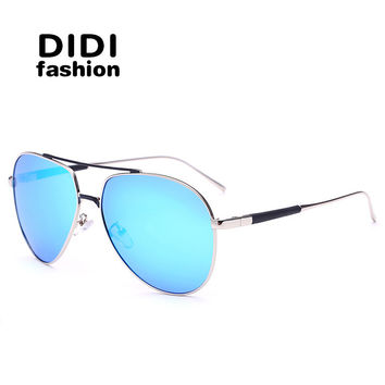 DIDI hippie women polarized sunglasses luxury brand man pilot glasses Falt Top Military metal frame Eyewear Coating Oculos H676