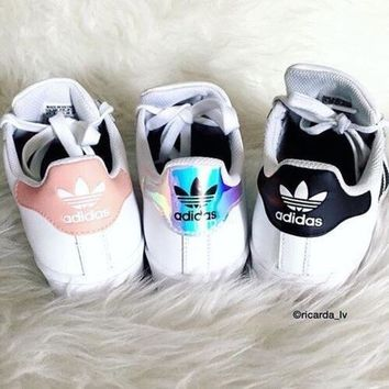 """Adidas"" Fashion Shell-toe Flats Sneakers Sport Shoes F"