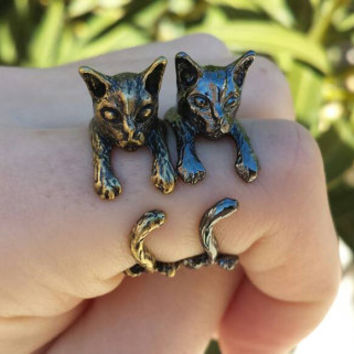 Adjustable Cat Ring - Statement Ring - Animal Ring - Stackable Ring - Valentines Day Gift