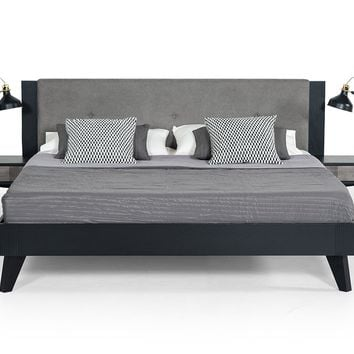 Nova Domus Panther Contemporary Grey & Black Bed