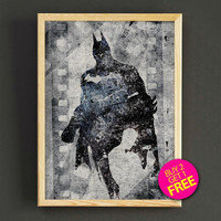 Batman Watercolor Art Print Justice League Superhero Poster House Wear Wall Decor Gift Linen Print - Buy 2 Get 1 FREE- 401s2g