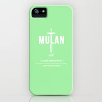Disney Princesses: Mulan Minimalist iPhone Case by Ofalexandra | Society6
