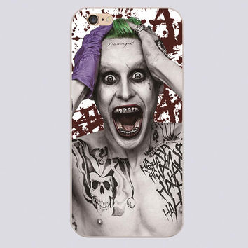 Crazy Joker tattoo Design phone cover cases for iphone 4 5 5c 5s 6 6s 6plus Hard Shell
