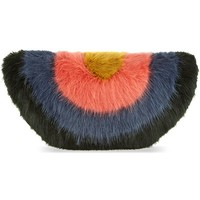 SHRIMPS - Faux fur rainbow clutch | Selfridges.com