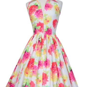 Mari Dress in Garden Pastel