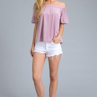 Lavender Off Shoulder Top