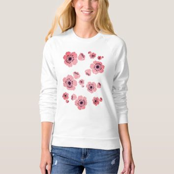 Cherry Blossoms Women's Raglan Sweatshirt