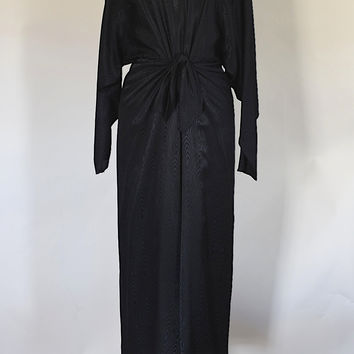80s 90s Black Dolman Sleeve Party Dress