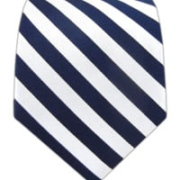 Twill White Stripe - Navy | Ties, Bow Ties, and Pocket Squares | The Tie Bar